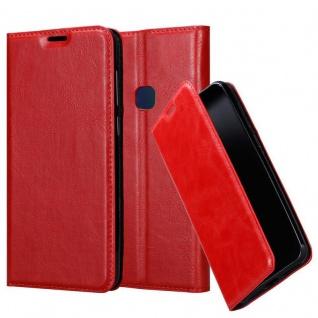 Cadorabo Hülle für Vivo NEX in APFEL ROT Handyhülle mit Magnetverschluss, Standfunktion und Kartenfach Case Cover Schutzhülle Etui Tasche Book Klapp Style