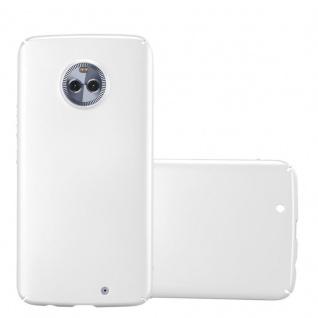 Cadorabo Hülle für Motorola MOTO X4 in METALL SILBER - Hardcase Handyhülle aus Plastik gegen Kratzer und Stöße - Schutzhülle Bumper Ultra Slim Back Case Hard Cover