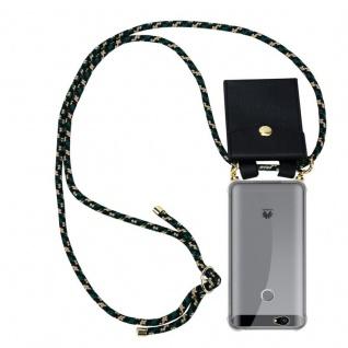 Cadorabo Handy Kette für Huawei NOVA in CAMOUFLAGE - Silikon Necklace Umhänge Hülle mit Gold Ringen, Kordel Band Schnur und abnehmbarem Etui ? Schutzhülle