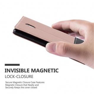 Cadorabo Hülle für Nokia 3 2017 in GOLD SCHWARZ ? Handyhülle mit Magnetverschluss, Standfunktion und Kartenfach ? Case Cover Schutzhülle Etui Tasche Book Klapp Style - Vorschau 4