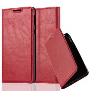 Cadorabo Hülle für Sony Xperia E5 in APFEL ROT - Handyhülle mit Magnetverschluss, Standfunktion und Kartenfach - Case Cover Schutzhülle Etui Tasche Book Klapp Style
