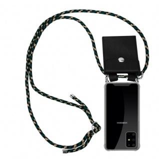 Cadorabo Handy Kette für Samsung Galaxy S20 PLUS in CAMOUFLAGE Silikon Necklace Umhänge Hülle mit Silber Ringen, Kordel Band Schnur und abnehmbarem Etui Schutzhülle
