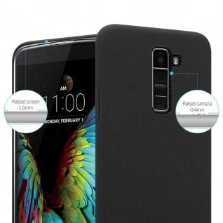 Cadorabo Hülle für LG K10 2016 in FROSTY SCHWARZ - Hardcase Handyhülle aus Plastik gegen Kratzer und Stöße - Schutzhülle Bumper Ultra Slim Back Case Hard Cover - Vorschau 3