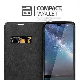 Cadorabo Hülle für Nokia 2.2 in APFEL ROT - Handyhülle mit Magnetverschluss, Standfunktion und Kartenfach - Case Cover Schutzhülle Etui Tasche Book Klapp Style - Vorschau 3