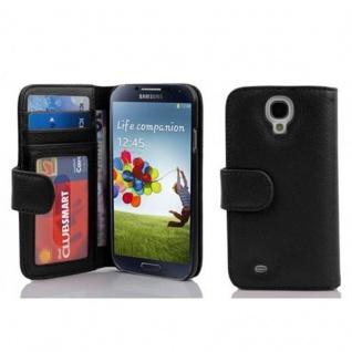 Cadorabo Hülle für Samsung Galaxy S4 in OXID SCHWARZ ? Handyhülle mit Magnetverschluss und 3 Kartenfächern ? Case Cover Schutzhülle Etui Tasche Book Klapp Style