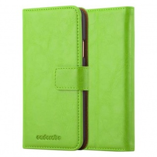 Cadorabo Hülle für Apple iPhone X / XS in GRAS GRÜN - Handyhülle mit Magnetverschluss, Standfunktion und Kartenfach - Case Cover Schutzhülle Etui Tasche Book Klapp Style