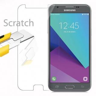Cadorabo Panzer Folie für Samsung Galaxy J3 2017 - Schutzfolie in KRISTALL KLAR - Gehärtetes (Tempered) Display-Schutzglas in 9H Härte mit 3D Touch Kompatibilität - Vorschau 2