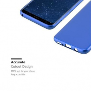 Cadorabo Hülle für Samsung Galaxy S8 in METALLIC BLAU - Handyhülle aus flexiblem TPU Silikon - Silikonhülle Schutzhülle Ultra Slim Soft Back Cover Case Bumper - Vorschau 2