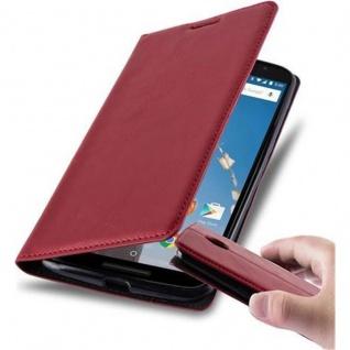 Cadorabo Hülle für Lenovo Google NEXUS 6 / 6X in APFEL ROT - Handyhülle mit Magnetverschluss, Standfunktion und Kartenfach - Case Cover Schutzhülle Etui Tasche Book Klapp Style - Vorschau 1