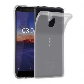 Cadorabo Hülle für Nokia 3.1 2018 in VOLL TRANSPARENT - Handyhülle aus flexiblem TPU Silikon - Silikonhülle Schutzhülle Ultra Slim Soft Back Cover Case Bumper
