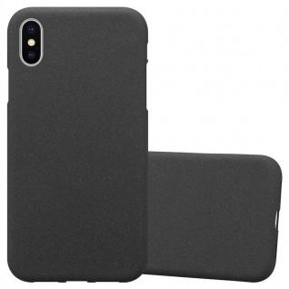 Cadorabo Hülle für Apple iPhone XS MAX in FROST SCHWARZ - Handyhülle aus flexiblem TPU Silikon - Silikonhülle Schutzhülle Ultra Slim Soft Back Cover Case Bumper