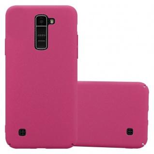 Cadorabo Hülle für LG K10 2016 in FROSTY PINK - Hardcase Handyhülle aus Plastik gegen Kratzer und Stöße - Schutzhülle Bumper Ultra Slim Back Case Hard Cover