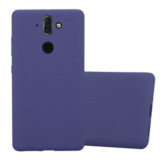 Cadorabo Hülle für Nokia 8 Sirocco in FROST DUNKEL BLAU - Handyhülle aus flexiblem TPU Silikon - Silikonhülle Schutzhülle Ultra Slim Soft Back Cover Case Bumper
