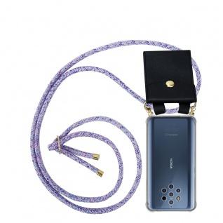 Cadorabo Handy Kette für Nokia 10 in UNICORN Silikon Necklace Umhänge Hülle mit Gold Ringen, Kordel Band Schnur und abnehmbarem Etui Schutzhülle