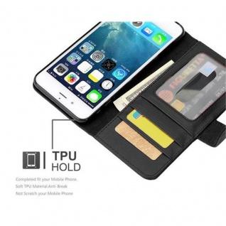 Cadorabo Hülle für Apple iPhone 7 / iPhone 7S / iPhone 8 in OXID SCHWARZ ? Handyhülle mit Magnetverschluss und 3 Kartenfächern ? Case Cover Schutzhülle Etui Tasche Book Klapp Style - Vorschau 2
