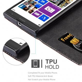 Cadorabo Hülle für Nokia Lumia 1020 in ROSÉ GOLD SCHWARZ ? Handyhülle mit Magnetverschluss, Standfunktion und Kartenfach ? Case Cover Schutzhülle Etui Tasche Book Klapp Style - Vorschau 2