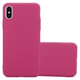 Cadorabo Hülle für Apple iPhone X / XS in FROSTY PINK Hardcase Handyhülle aus Plastik gegen Kratzer und Stöße Schutzhülle Bumper Ultra Slim Back Case Hard Cover