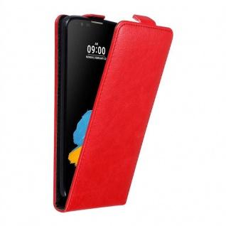 Cadorabo Hülle für LG STYLUS 2 in APFEL ROT - Handyhülle im Flip Design mit unsichtbarem Magnetverschluss - Case Cover Schutzhülle Etui Tasche Book Klapp Style