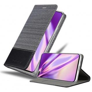 Cadorabo Hülle für Honor View 30 Pro in GRAU SCHWARZ Handyhülle mit Magnetverschluss, Standfunktion und Kartenfach Case Cover Schutzhülle Etui Tasche Book Klapp Style