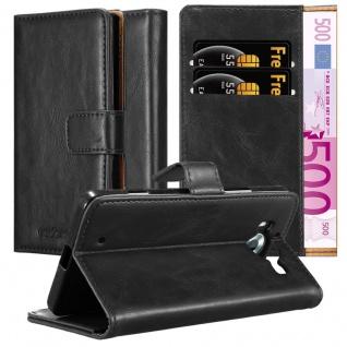 Cadorabo Hülle für Nokia Lumia 950 in GRAPHIT SCHWARZ ? Handyhülle mit Magnetverschluss, Standfunktion und Kartenfach ? Case Cover Schutzhülle Etui Tasche Book Klapp Style