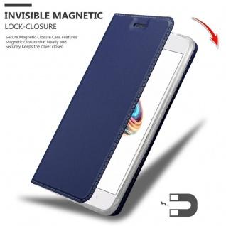 Cadorabo Hülle für Xiaomi Mi A1 / 5X in CLASSY DUNKEL BLAU - Handyhülle mit Magnetverschluss, Standfunktion und Kartenfach - Case Cover Schutzhülle Etui Tasche Book Klapp Style - Vorschau 3