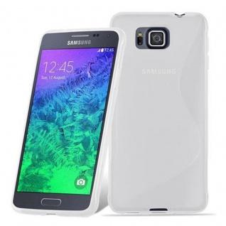 Cadorabo Hülle für Samsung Galaxy ALPHA in HALB TRANSPARENT ? Handyhülle aus flexiblem TPU Silikon ? Silikonhülle Schutzhülle Ultra Slim Soft Back Cover Case Bumper