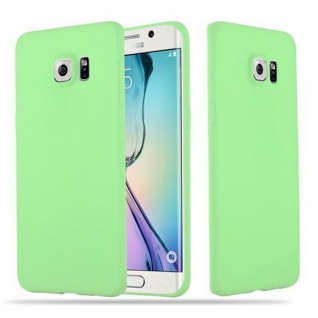 Cadorabo Hülle für Samsung Galaxy S6 EDGE in CANDY PASTELL GRÜN - Handyhülle aus flexiblem TPU Silikon - Silikonhülle Schutzhülle Ultra Slim Soft Back Cover Case Bumper