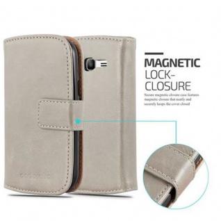 Cadorabo Hülle für Samsung Galaxy TREND LITE in CAPPUCCINO BRAUN ? Handyhülle mit Magnetverschluss, Standfunktion und Kartenfach ? Case Cover Schutzhülle Etui Tasche Book Klapp Style - Vorschau 2