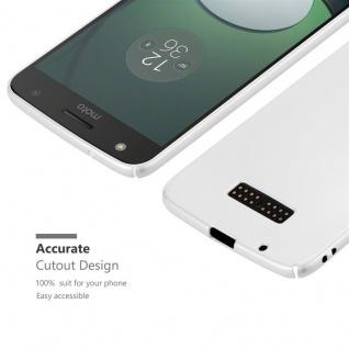 Cadorabo Hülle für Motorola MOTO Z in METALL SILBER - Hardcase Handyhülle aus Plastik gegen Kratzer und Stöße - Schutzhülle Bumper Ultra Slim Back Case Hard Cover - Vorschau 5