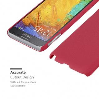 Cadorabo Hülle für Samsung Galaxy NOTE 3 NEO in FROSTY ROT - Hardcase Handyhülle aus Plastik gegen Kratzer und Stöße - Schutzhülle Bumper Ultra Slim Back Case Hard Cover - Vorschau 5