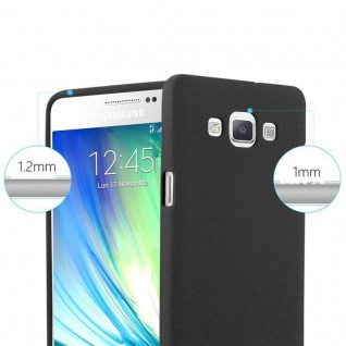 Cadorabo Hülle für Samsung Galaxy A3 2015 in FROST SCHWARZ - Handyhülle aus flexiblem TPU Silikon - Silikonhülle Schutzhülle Ultra Slim Soft Back Cover Case Bumper - Vorschau 5