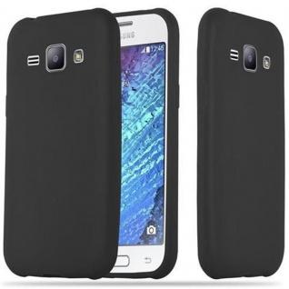 Cadorabo Hülle für Samsung Galaxy J1 2015 in CANDY SCHWARZ - Handyhülle aus flexiblem TPU Silikon - Silikonhülle Schutzhülle Ultra Slim Soft Back Cover Case Bumper