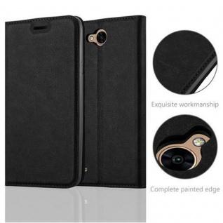 Cadorabo Hülle für LG X POWER 2 in NACHT SCHWARZ - Handyhülle mit Magnetverschluss, Standfunktion und Kartenfach - Case Cover Schutzhülle Etui Tasche Book Klapp Style - Vorschau 2