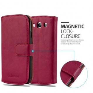 Cadorabo Hülle für Samsung Galaxy S3 / S3 NEO in WEIN ROT ? Handyhülle mit Magnetverschluss, Standfunktion und Kartenfach ? Case Cover Schutzhülle Etui Tasche Book Klapp Style - Vorschau 2