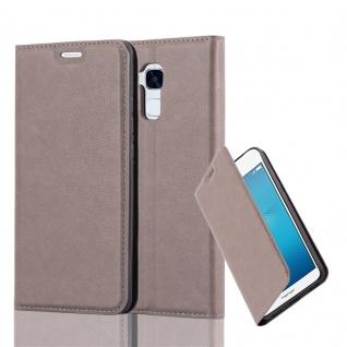 Cadorabo Hülle für Honor 5C in KAFFEE BRAUN - Handyhülle mit Magnetverschluss, Standfunktion und Kartenfach - Case Cover Schutzhülle Etui Tasche Book Klapp Style