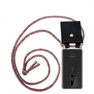 Cadorabo Handy Kette für Nokia 3.1 Plus in COLORFUL PARROT - Silikon Necklace Umhänge Hülle mit Gold Ringen, Kordel Band Schnur und abnehmbarem Etui ? Schutzhülle