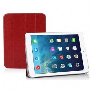 Cadorabo - Apple iPad AIR Ultra Slim Smart Cover Schutzhülle im Book Style mit Auto Wake Sleep und Standfunktion - Case Cover Bumper Etui in ZINNOBER ROT