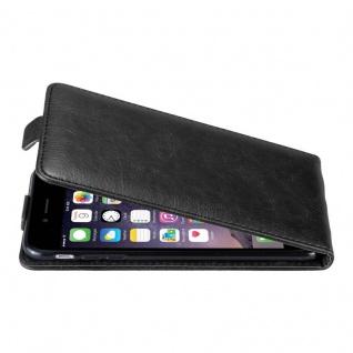 Cadorabo Hülle für Apple iPhone 6 PLUS / iPhone 6S PLUS in NACHT SCHWARZ - Handyhülle im Flip Design mit unsichtbarem Magnetverschluss - Case Cover Schutzhülle Etui Tasche Book Klapp Style