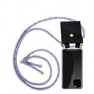 Cadorabo Handy Kette für Apple iPhone 11 PRO MAX (XI PRO MAX) in UNICORN - Silikon Necklace Umhänge Hülle mit Gold Ringen, Kordel Band Schnur und abnehmbarem Etui - Schutzhülle