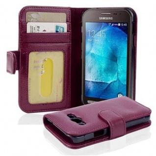 Cadorabo Hülle für Samsung Galaxy Xcover 3 in BORDEAUX LILA ? Handyhülle mit Magnetverschluss und 3 Kartenfächern ? Case Cover Schutzhülle Etui Tasche Book Klapp Style