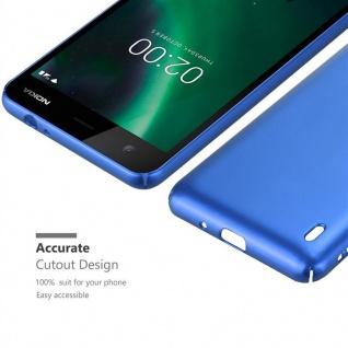 Cadorabo Hülle für Nokia 2 2017 in METALL BLAU ? Hardcase Handyhülle aus Plastik gegen Kratzer und Stöße ? Schutzhülle Bumper Ultra Slim Back Case Hard Cover - Vorschau 5