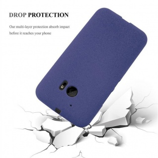Cadorabo Hülle für HTC ONE M10 in FROST DUNKEL BLAU - Handyhülle aus flexiblem TPU Silikon - Silikonhülle Schutzhülle Ultra Slim Soft Back Cover Case Bumper - Vorschau 5