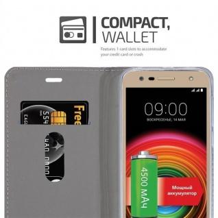 Cadorabo Hülle für LG X POWER 2 in GRAU SCHWARZ - Handyhülle mit Magnetverschluss, Standfunktion und Kartenfach - Case Cover Schutzhülle Etui Tasche Book Klapp Style - Vorschau 5