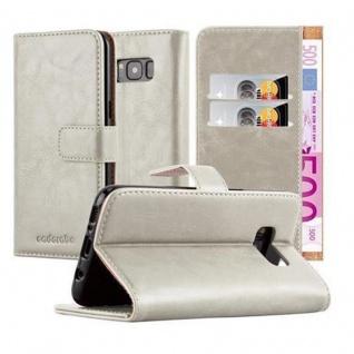 Cadorabo Hülle für Samsung Galaxy S8 in CAPPUCCINO BRAUN Handyhülle mit Magnetverschluss, Standfunktion und Kartenfach Case Cover Schutzhülle Etui Tasche Book Klapp Style