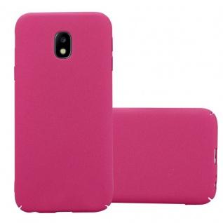 Cadorabo Hülle für Samsung Galaxy J3 2017 in FROSTY PINK - Hardcase Handyhülle aus Plastik gegen Kratzer und Stöße - Schutzhülle Bumper Ultra Slim Back Case Hard Cover