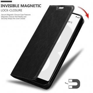 Cadorabo Hülle für Google Pixel 3 in NACHT SCHWARZ - Handyhülle mit Magnetverschluss, Standfunktion und Kartenfach - Case Cover Schutzhülle Etui Tasche Book Klapp Style - Vorschau 3