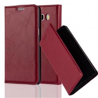 Cadorabo Hülle für Samsung Galaxy J5 2016 in APFEL ROT - Handyhülle mit Magnetverschluss, Standfunktion und Kartenfach - Case Cover Schutzhülle Etui Tasche Book Klapp Style