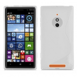 Cadorabo Hülle für Nokia Lumia 830 in HALB TRANSPARENT ? Handyhülle aus flexiblem TPU Silikon ? Silikonhülle Schutzhülle Ultra Slim Soft Back Cover Case Bumper