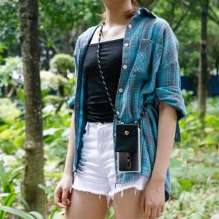Cadorabo Handy Kette für OnePlus 6 in SCHWARZ SILBER ? Silikon Necklace Umhänge Hülle mit Gold Ringen, Kordel Band Schnur und abnehmbarem Etui ? Schutzhülle - Vorschau 4