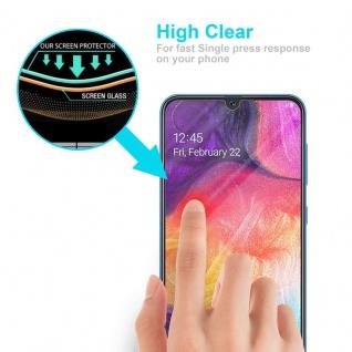 Cadorabo Panzer Folie für Samsung Galaxy A50 - Schutzfolie in KRISTALL KLAR - Gehärtetes (Tempered) Display-Schutzglas in 9H Härte mit 3D Touch Kompatibilität - Vorschau 5